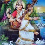 saraswati - Basanta panchami (सरस्वति पुजा - बसन्त पंचमी ), Pic from Google
